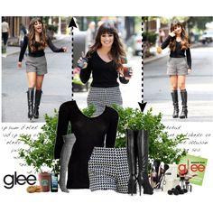 Lea Michele's fashion on Glee S4