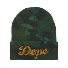NEW CAMOUFLAGE DOPE 3D EMBROIDERY BEANIE SKULL CAP HIP HOP HAT CAMO ❤ liked on Polyvore featuring accessories, hats, beanies, headwear, camo hat, camouflage beanie, camo cap, skull cap and embroidered hats
