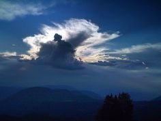 Adrian28Fly — #Painted #sky over the #mountains #clouds #late...