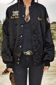 """US Army Black Lions """"Ghost Riders"""" Bomber Jacket"""