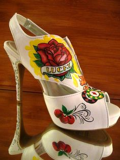 Tattoo Shoes:       ElyseInNY      The Expressive Sole Studio  on etsy