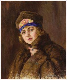 Кравченко Николай Иванович (Россия, 1867-1937) «Женский портрет» 1921