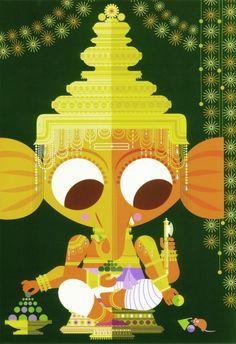 Ganesha (by Sanjay Patel) love the little book of Hindu deities! Indian Gods, Indian Art, Indian Style, Cartoon Sketches, Hindu Deities, Krishna Art, Hindu Art, Lord Ganesha, Gods And Goddesses