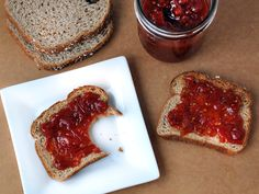 Tomato jam- Make this with sevia instead of sugar. Only made 1/3 of the recipe. Wasn't sure if I'd eat it or not. I'm not huge on jams but needed to use up some tomatoes. It tastes really yummy.