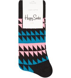 The clue is in the name, Happy Socks bring you the cheeriest socks you can imagine. This pair features a crazy and jagged pattern. Liven up a formal outfit, or match them with an equally wild attire. Patterned Socks, Striped Socks, Happy Socks, Cotton, Fashion, Moda, Fashion Styles, Fashion Illustrations