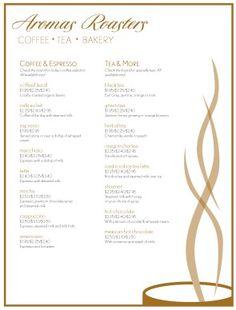 Coffee Cafe Menu template #diy | Cafe | Pinterest | Cafe menu ...