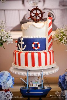 Nautical + Navy themed birthday party