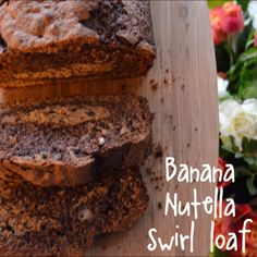 Banana Nutella Swirl Loaf