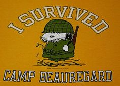 A Vintage 80s Snoopy Joe Cool Army Camp Beauregard Sz Mens XL T Shirt US s s Tee | eBay #Vintage #Snoopy #Army