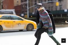 Celine Aagaard during Mercedes Benz New York Fashion Week Fall Winter 2015.
