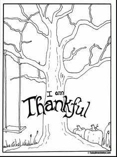 Coloring Surprising Thanksgiving Thankful Tree Pag With Thankfulness Psalm Free Adult Page Holy