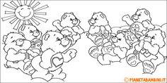 40 Disegni degli Orsetti del Cuore da Colorare