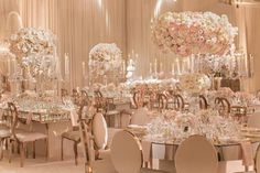 Asian wedding decor - Round Mirror tables were included in the floor plan The curves provided an interesting contrast to the glasstop crystal chandelier tables The room as draped in a soft chiffon Guest seating was des Wedding Reception Decorations, Wedding Themes, Wedding Centerpieces, Wedding Designs, Wedding Table, Wedding Colors, Wedding Ceremony, Wedding Dresses, Luxury Wedding