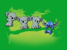 """I think it's a koala. An evil koala. Disney Pixar, Disney And Dreamworks, Disney Magic, Disney Art, Walt Disney, Disney Characters, Cute Stitch, Lilo And Stitch, Disney Drawings"