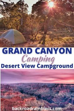 Planning a vacation to Grand Canyon National Park? Let's talk about camping! Here's why a Grand Canyon camping trip is awesome and an overview of the best Grand Canyon campground: Desert View Campground! We've also got tips for where to watch the sunset on the South Rim, star gazing at the Grand Canyon, and tips for Grand Canyon camping. Grand Canyon Campgrounds, Best Campgrounds, Camping Desert, Grand Canyon Camping, Grand Canyon National Park, National Parks, Grand Canyon Village, Park Service