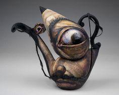 "Noi Volkov; Ceramic, 2012, Sculpture ""Teapot Dali/Picasso"""