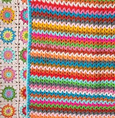 Ak at home : crochet * deken Zigzag Manta Crochet, Knit Crochet, Crochet Bedspread, Crochet Blankets, Diy Notebook, Plaid, Learn To Crochet, Decoration, Diy And Crafts