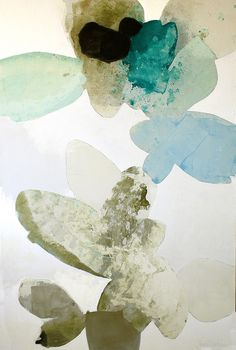 """This Cloud: Part I: 72"""" x 48"""" ink, oil, & charcoal on canvas, 2013"""