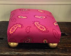 Bohemian style foot stool available at Charmed in Lynchburg, VA (434) 610-9124