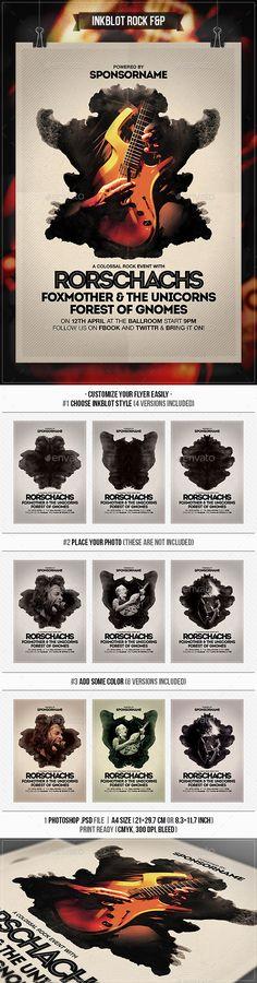 Inkblot Rock Flyer & Poster