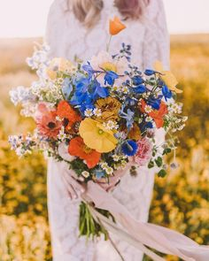 Wildflower Wedding Bouquets Not Just For The Country Wedding ★ wildflower wedding bouquets color wild flower bouquet michelle roller bouquets wild flowers 33 Wildflower Wedding Bouquets Not Just For The Country Wedding Poppy Wedding Bouquets, Bride Bouquets, Floral Wedding, Wild Flower Wedding, Poppy Bouquet, Wedding Rustic, Colourful Wedding Flowers, Spring Wedding Flowers, Dream Wedding