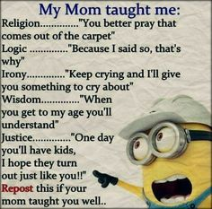 Everyone loves minion, so what is better then minions with a funny attitude? Here we have 50 funny minion quotes all with a fun and sarcastic attitude Funny Minion Pictures, Funny Minion Memes, Funny Pictures For Kids, Minions Quotes, Funny Jokes, Hilarious, Funny Images, Minion Humor, School Pictures