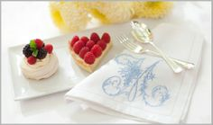Whitework Monogram Napkin by Extra Special Touch