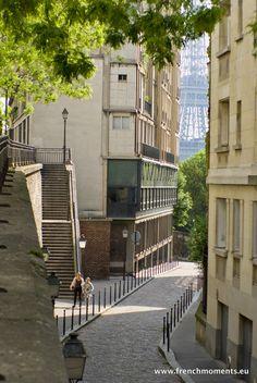 A little corner of Paris in the 16th arrondissement... rue Raynouard // Un petit coin de Paris dans le 16e arrondissement... rue Raynouard. #Paris #France #EiffelTower