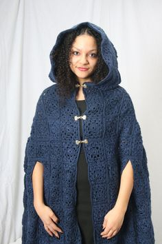 Ready to ship_ Blue cloak medieval cloak por reneeoriginals1