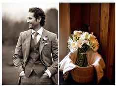 Love this look for the groom. Also love the bouquet