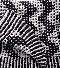 Free Knitting Pattern for Mosaic Chevron Blanket - Great pattern for Bernat Blanket Yarn, this afghan features a two color mosaic zigzag that's a quick knit in super bulky yarn.