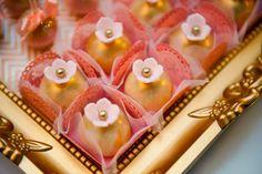 Festa Lançamento Blog Bella Fiore Decor Rosa e Dourado Doces