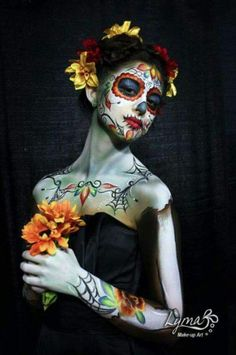 Sugar skull .. half body paint