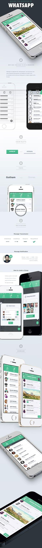 "Whatsapp Redesign - Group conversation (3 avatar bubbles + ""+3"")"