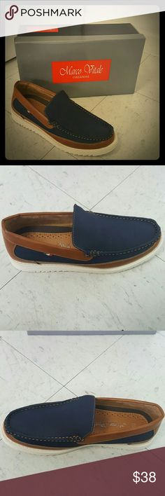 Mens blue/brown boat shoe size 7.5 Mens blue/brown boat shoe size 7.5 Marco Vitale Collezione  Shoes Boat Shoes