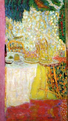 dappledwithshadow: The Open Door Pierre Bonnard - circa 1937