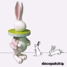 Et voilà !  Notre lapin géant décoré ! Vous aimez ?  - - #decopatch #diy #deco #decoratif #decoration #lapin #rabbit #ecole #creche #school #kids #enfant #creatif #creative #creativity #loisirscreatifs #handycraft #hobbie #geant #giant #magic #home #homedeco #homedecor