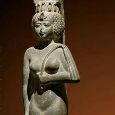 'Princess with Nubian wig - Ankhnesneferibre was the daughter of Psamtik II, a pharaoh of the 26th dynasty (6th century BC)