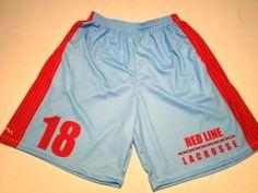 Get Sublimated Lacrosse Shorts - Redline Lacrosse Shorts - Custom Lax Shorts