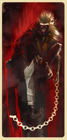 The Dark Tower | Eddy and the Monkey on his back by Stephanie Hans