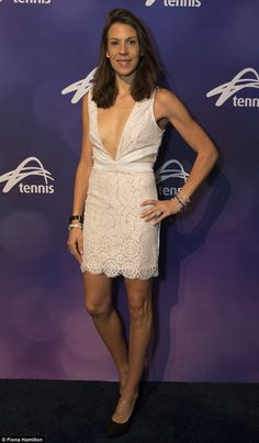 Stunning: Marion Bartoli flaunted her lean physique while attending the annual Legends Lunch during the Australian Open in Melbourne on Saturday