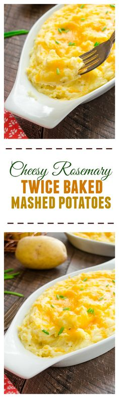 Cheesy Rosemary Twice Baked Mashed Potatoes   flavorthemoments.com [ad] #9thWonder @BeholdPotatoes