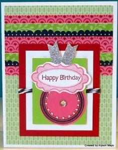 Happy Birthday Card using Chantilly (2)