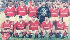 Benfica (de cima para baixo e da esquerda para a direita): Hélder, Mozer, Dimas, Preud´Homme, Cannigia e Isaías; Veloso (cap.), Vitor Paneira, João Pinto, Tavares e Nelo.