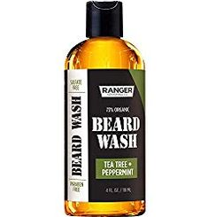 Beard Wash Shampoo by Ranger Grooming Co by Leven Rose, Sulfate Free Natural Beard Cleanser & Conditioner for Men, Tea Tree & Peppermint for Growth & Thickening, Paraben Free 4 Oz Best Beard Wash, Best Beard Shampoo, Beard Shampoo And Conditioner, Best Beard Care Products, Beard Softener, Beard Grooming Kits, Natural Shampoo, Tea Tree Essential Oil, Organic Oil