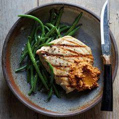 Swordfish with Romesco Sauce | Food & Wine