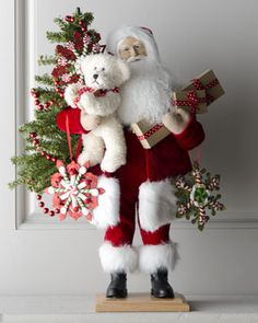 """""""My Christmas Bear"""" Santa  by Lynn Haney at Horchow. It's only $400!"""