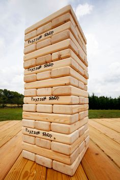 giant jenga giant wooden blocks (size: x x in. When stacked 3 blocks wide it makes the tower 18 levels high Garden Games, Backyard Games, Outdoor Games, Outdoor Activities, Outdoor Crafts, Outdoor Fun, Backyard Ideas, Fun Wedding Activities, Activities For Kids