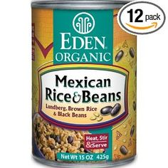 Eden Organic Mexican Rice & Beans, 15-Ounce Cans (Pack of 12) $26.53