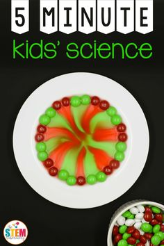 This simple 5-minute science activity is a must-try this holiday season! Young scientists will be in awe as they watch stripes of red and green magically stretch across their plate. It's the perfect introduction to our States of Matter Activity Pack. Getting Ready The prep for this super cool science activity was as quick as itcomes. I grabbed: a white plate a bag of holiday